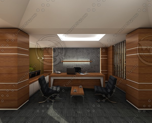 office scene 3d model - C4D Office... by C4D Source