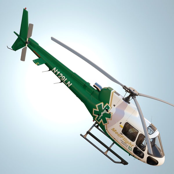 eurocopter as350 medflight 3d max - Eurocopter AS350 MedFlight... by dimosbarbos