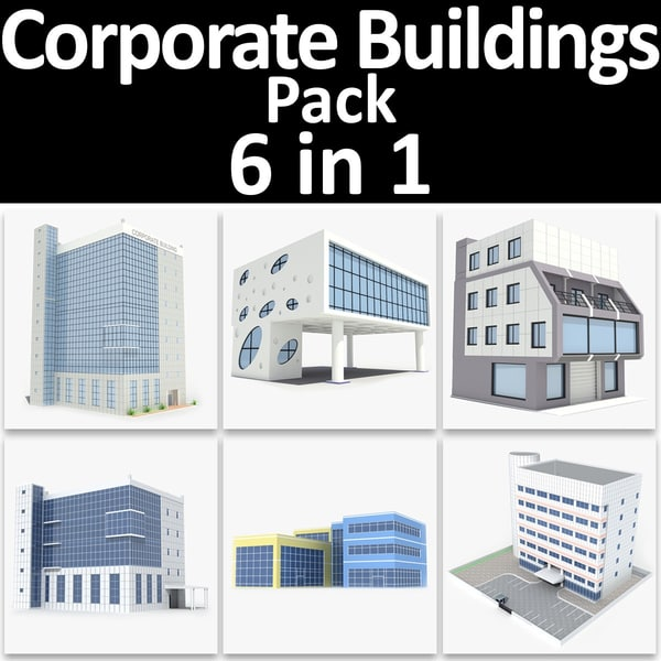 corporate buildings pack 02 3d max