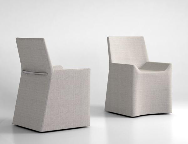 3d porro soft chair