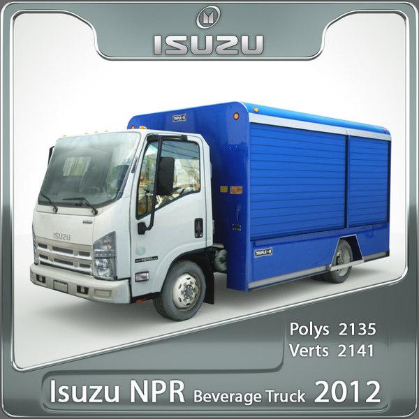 Isuzu NPR Beverage truck 2012