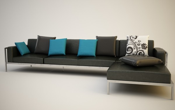 modern leather sofa c4d - Modern Sofa... by filasouf