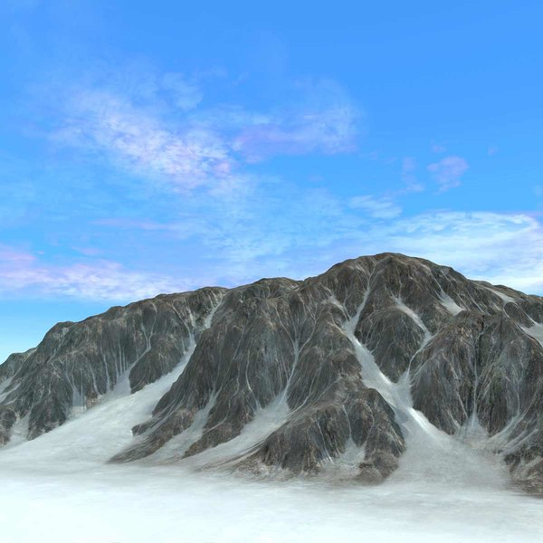 Mountain Snowy Terrain Background