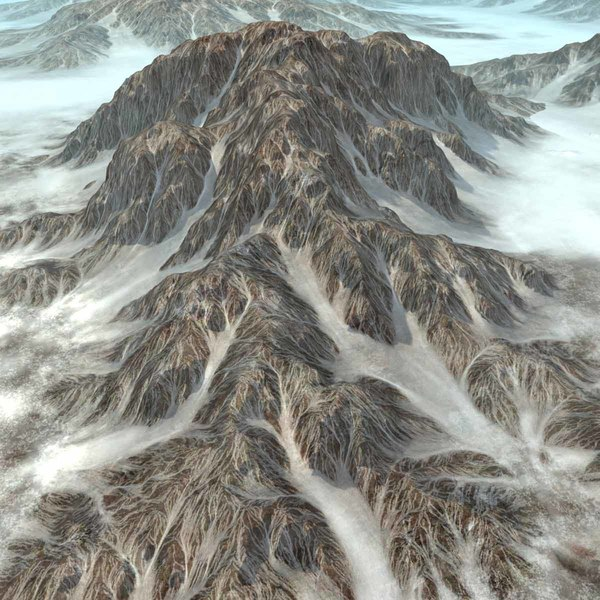 snowy mountains terrain ground rock 3d max - Mountain Snowy Terrain Background... by 3D_Multimedia