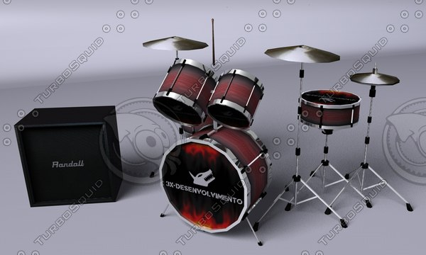 drum drums 3d model - baterria c4d.rar... by DHHH