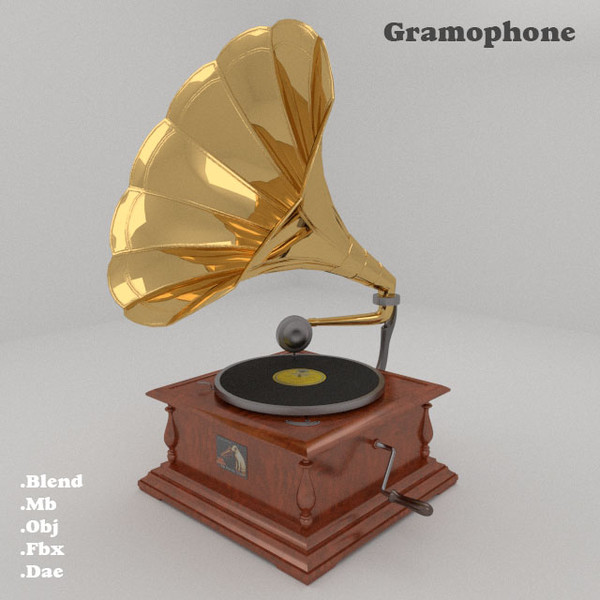 3ds max gramophone - Gramophone... by robstranges