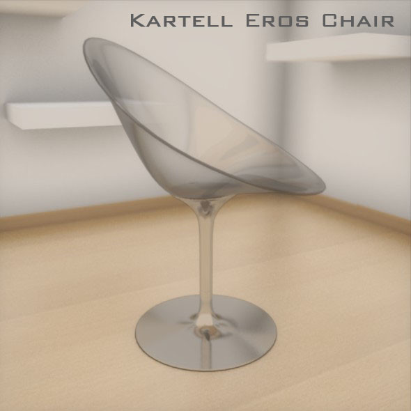 kartell chair eros 3ds - Kartell Eros Chair... by robstranges