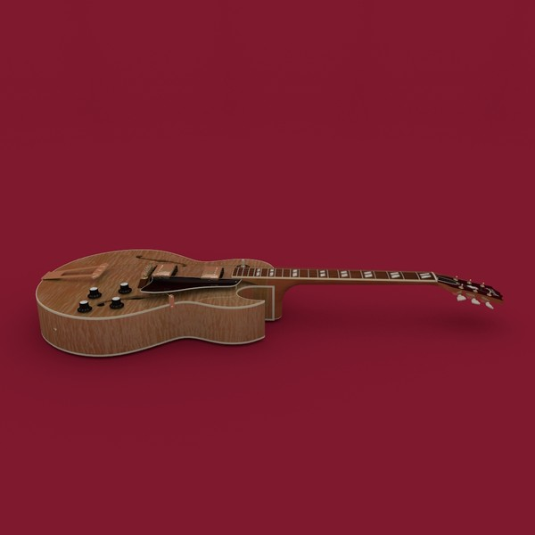 3d model gibson jazz guitar - Gibson Es-175 Jazz Guitar... by robstranges