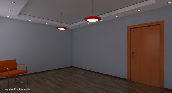3d room interior - Empty room... by planetstation