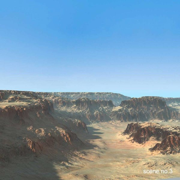 3d model landscape desert mountains terrains - Landscapes Collection Terrain Mountain... by 3D_Multimedia
