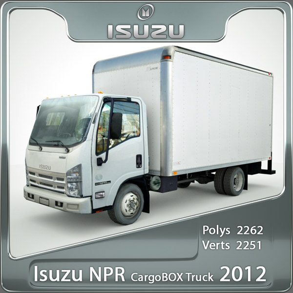 isuzu npr cargo truck 3d 3ds