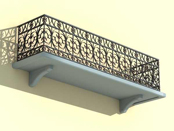 architectural balcony 3d model - BALCONY-1... by wanderer111