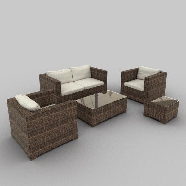 Rattan Seat Set 21
