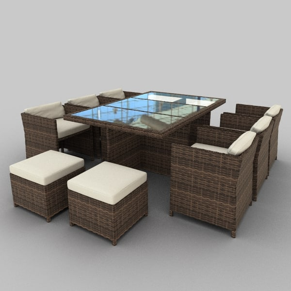 Rattan Seat Set 29