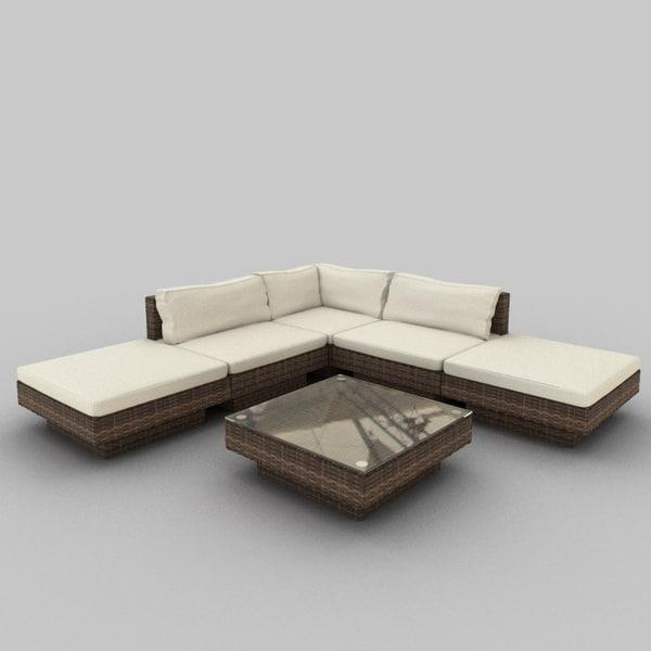 Rattan Seat Set 35