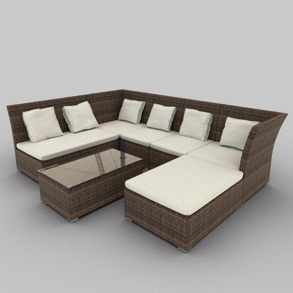 Rattan Seat Set 39