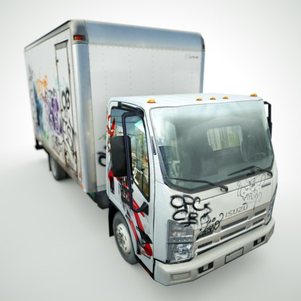 isuzu npr graffiti 3d model - Isuzu NPR Graffiti 2012... by be fast