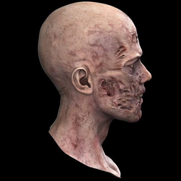 3d model of zombie head - Zombie Head 2... by 3d_molier