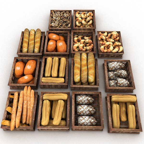 3d wood model - Wooden Pastry Crates Baker Bakers Bakery... by Litarvan