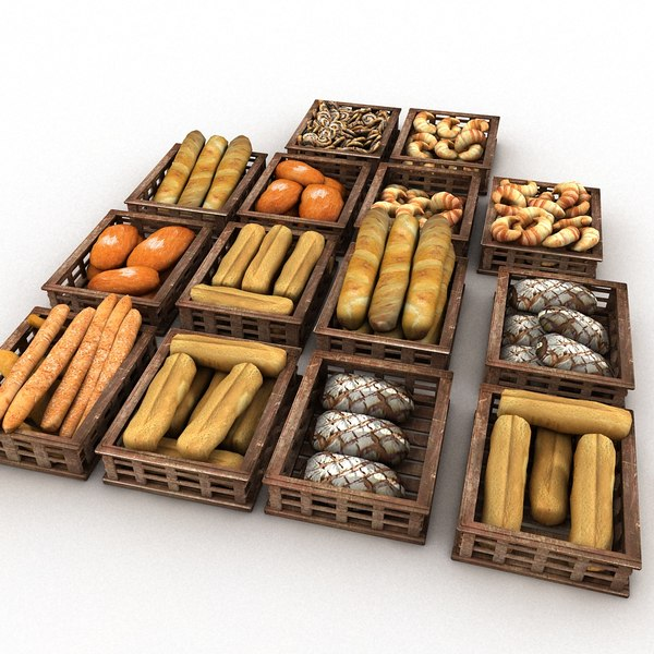 3d model wood - Wooden Pastry Crates... by Litarvan