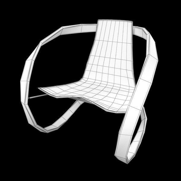 3d ribbon rocking chair model - Ribbon Rocking Chair... by JGCosta