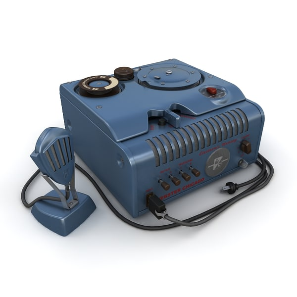 wire recorder 3d model