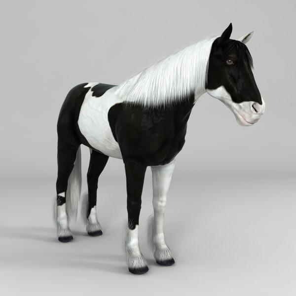 realistical horse 3d max