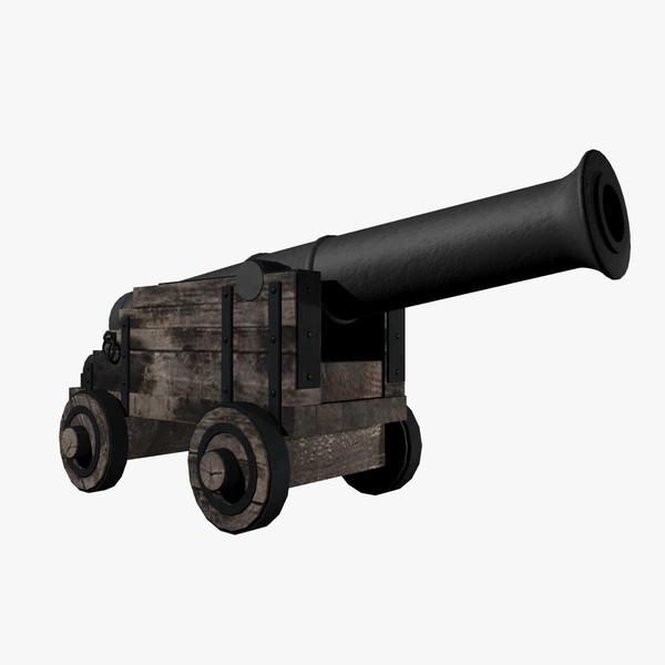 1800 century ship cannon 3d max