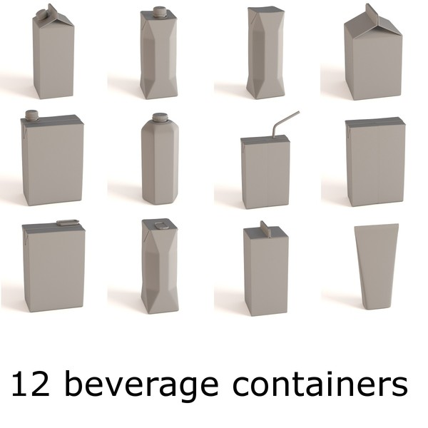 3d drink boxes model