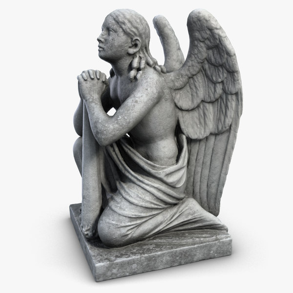 3ds sculpture angel knees