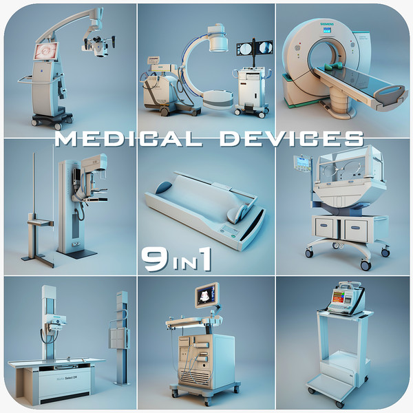 medical devices 9 1 3d obj - Medical Devices Collection 9 in 1... by Stubborn3D