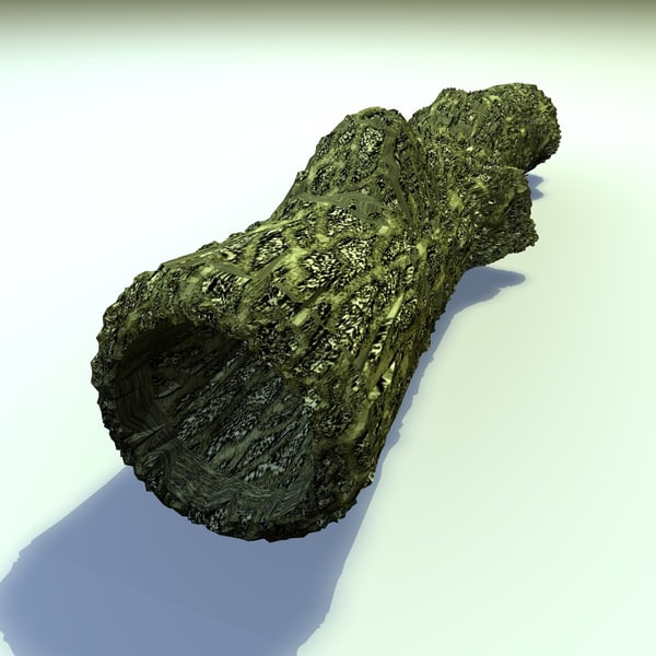 3d model moss covered hollow old tree - Moss Covered Hollow Tree Trunk... by Carrara1