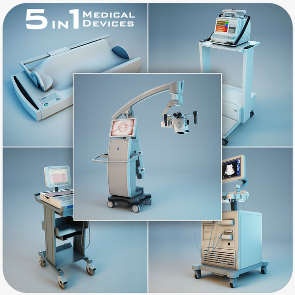 medical devices 5 1 3d model - Medical Devices Collection 5 in 1 vol.2... by Stubborn3D