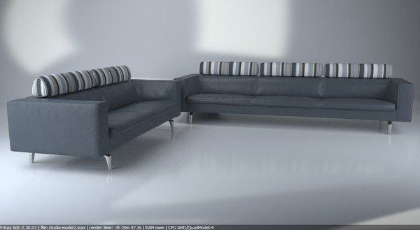 3d contemporary modern sofa - model - Sofa pack - Modern luxurious Italien sofa... by Studio3dv