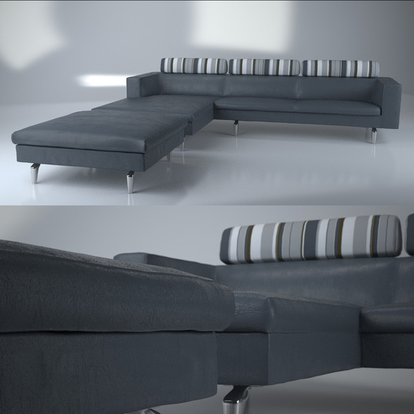 3d contemporary modern sofa ottoman - Sofa, ottoman and footstool - Modern sofa... by Studio3dv