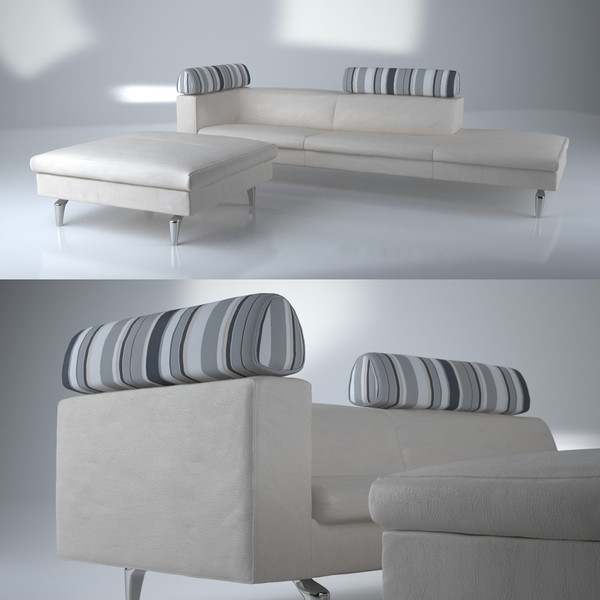 3d model contemporary modern sofa ottoman - Sofa, ottoman with footstool (2) - Modern sofa... by Studio3dv