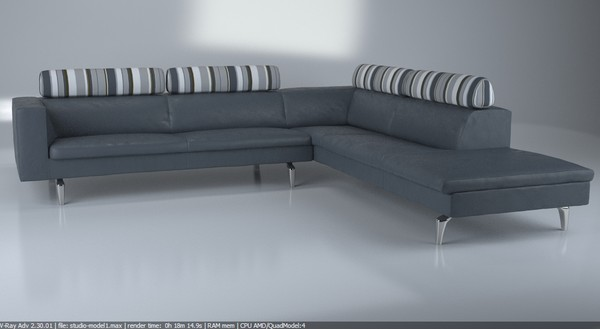 max contemporary modern sofa corner - Corner sofa - Modern luxurious Italien sofa... by Studio3dv
