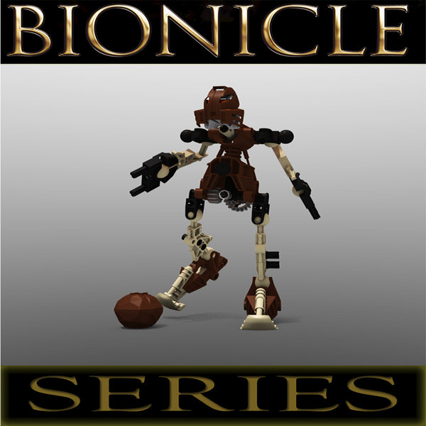 3d model lego bionicle pohatu -