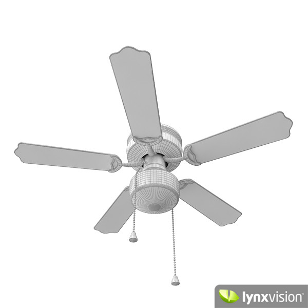 3d classic ceiling fan - Classic ceiling fan... by Lynxvision