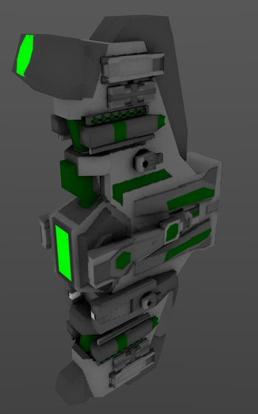 3d model ultra green - Green Ship Pack... by SpiritOfOnyx