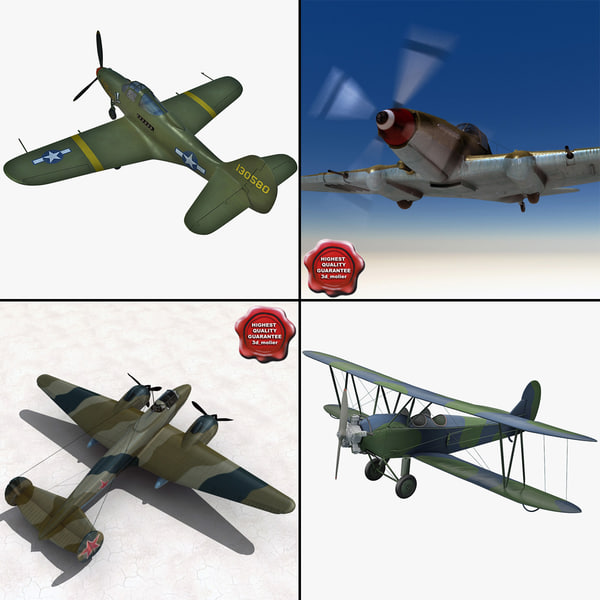 3d model old planes p plane