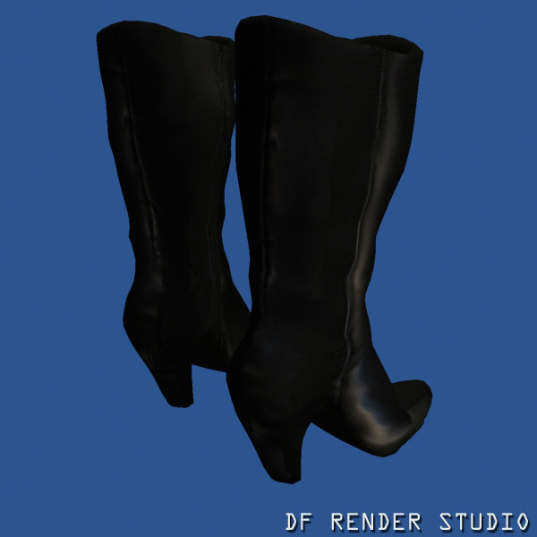 3d sexy boots floppy model - Floppy Boots... by DF Render Studio