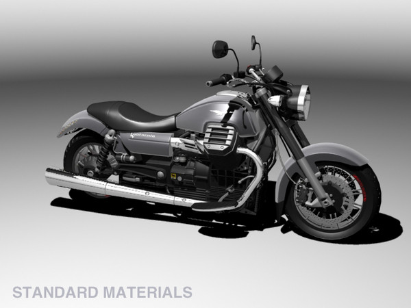 3d model of moto guzzi 1400 california - Moto Guzzi 1400 California Custom 2013... by Gonzo_3d