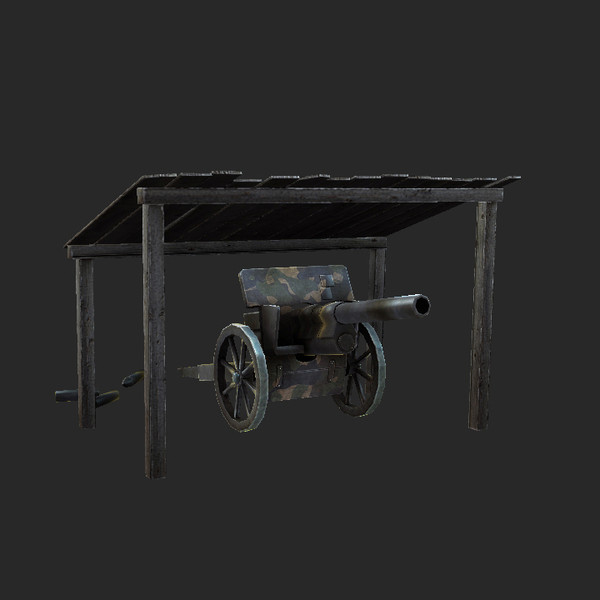 obj cannon canopy - Artillery Cannon Canopy Low... by tuann123