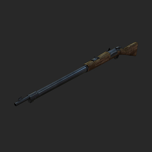 3d krag rifle model - Krag Rifle Low... by tuann123