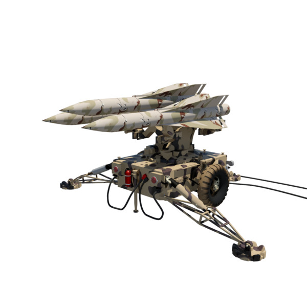 3d hawk missile launcher model