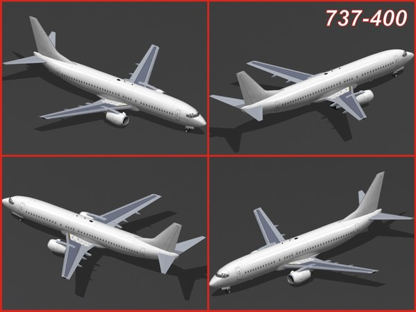3d model boeing 737 classic - Boeing 737 Classic Collection... by PedroFaut