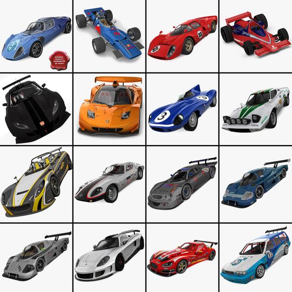 racing cars 9 3d c4d