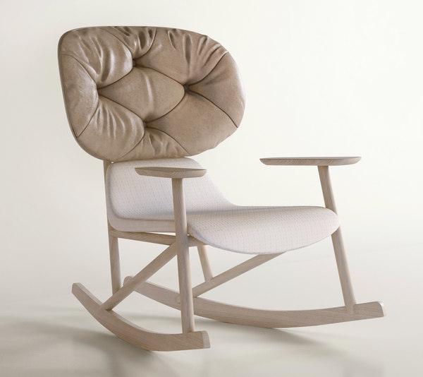 Moroso Klara rocking chair leather