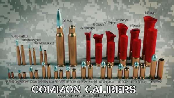 common calibers vfx 3d max